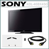 Sony Bravia KDL-46BX450 46 Inch 1080P HD LCD TV + PROFORMA TV Wall Mount + HDMI-HDMI Cable