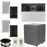 "5.1 Home Audio Speakers 4 Speakers, 1 Center, 8"" Powered Sub and More TS50WL51SET2"