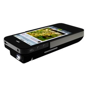Iphone4 4s DLP Pocket Projector, 2100mAh External Power