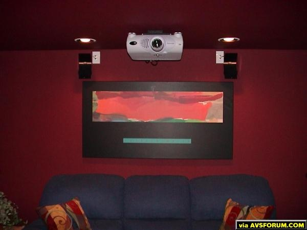 This is the heart of the visual side of our theater. THIS PROJECTOR IS AWESOME! Now, do you want to know how I really feel?
