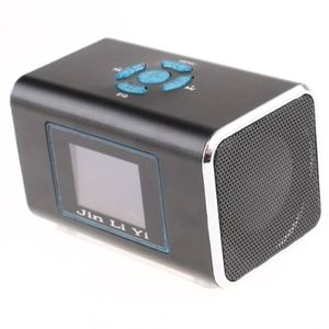 Mini Speaker MP3 Player Amplifier Micro SD TF Card USB Disk FM Radio Black