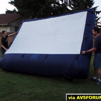Self inflating screen