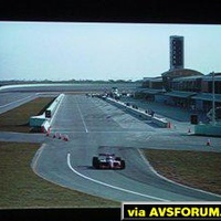 Super Speedway DVD projected on a Proxima DS-2 DLP projector.