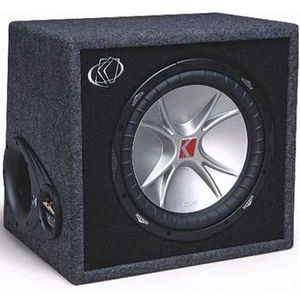 Kicker 06VCVX104 Single 10 inch CompVX Subwoofer Loaded in a Vented Enclosure 4 ohms