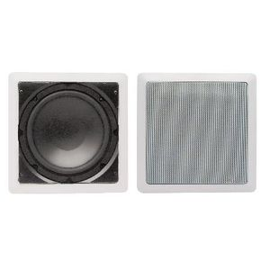 Audio Source 8 inch In Wall Subwoofer White Painted Grill Outstanding Bass