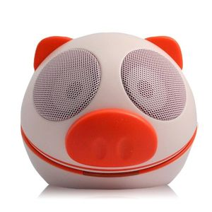 Backhomeday Magic Mini Cute Red Pig Loudspeaker USB Portable Voice Box