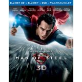Man of Steel (Blu-ray 3D + Blu-ray + DVD +UltraViolet Combo Pack)