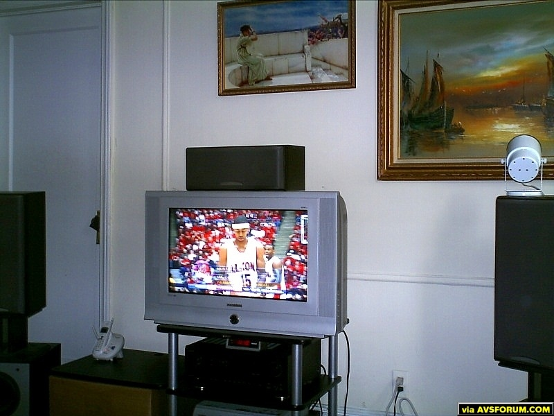 This is my budget HT in Queens, NY.  Magnavox tube hdtv, 5 Sony speakers, two Polk subwoofers, Denon receiver, and an XBOX 360. Only thing I&amp;#039;m waiting on is a 32 or 40 inch lcd.   I could afford it right now, but I&amp;#039;m saving the purchase because I...