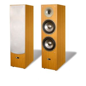 Pure Acoustics Junior Series Dual 6.5-Inch Floor-standing Loudspeaker (Maple)