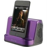 IHOME IHM16U IPAD(TM)/IPOD(R)/MP3 PLAYER PORTABLE STEREO SPEAKER SYSTEM (PURPLE)