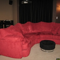 main HT seating (the infamous red couch)...