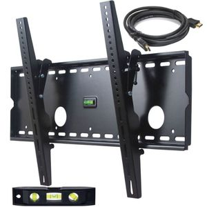 "VideoSecu Tilt TV Wall Mount for Most 32""-65"" LCD LED Plasma TV Flat Screen, Sturdy Steel Wall Plate Free HDMI Cable and 6"" Bubble Level M43"