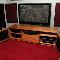 Current Panasonic 58PZ750 and just finished custom entertainment center.