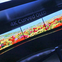 Panasonic did not have any curved OLEDs for sale, but this display showed that the company can in fact build them