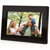 7 Inch 16:9 Photo Frame Calendar & Clock SD/MMC/MS Card Slot Wall-Mountable Power AC 100-240V