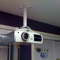 Phase 1 -  The Epson8350 Mounted to a Chief Mount - no screen / furniture to speak of as of yet