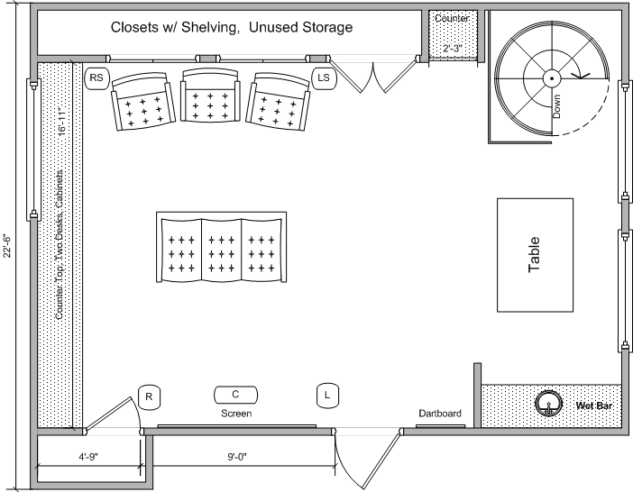 Media room remodel need floor plan feedback avs forum for House plans with theater room