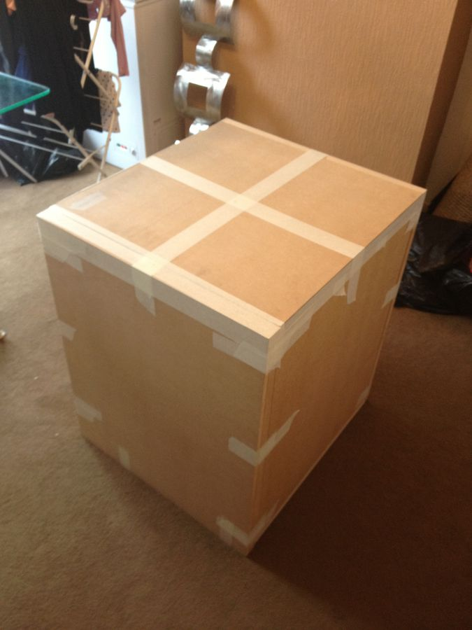 MY 1ST DIY SUBWOOFER BOX IS 600X750X662mm