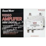 Channel Master CM 3412 2-Port Ultra Mini Distribution Amplifier for cable and antenna signals