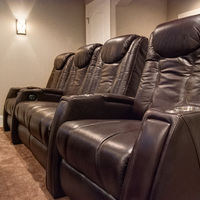Back row of 4 Tribute Fusion seats in Brown (center loveseat configuration)