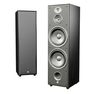 JBL Northridge E100 3-Way Dual 10-Inch Floorstanding Speaker, Single (Black Ash)