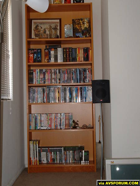 This is my DVD and Game shelving unit.