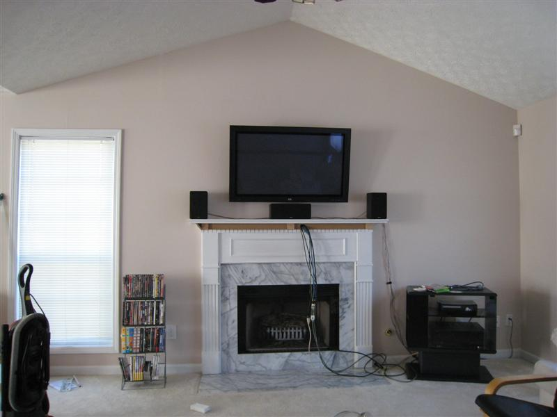 Speaker Placement W Fireplace Mounting Pic Inside