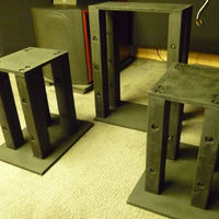 I built me some speaker stands.     I wanted something sturdy for my heavy bookshelf speakers...   The Monitor Audio RX2's