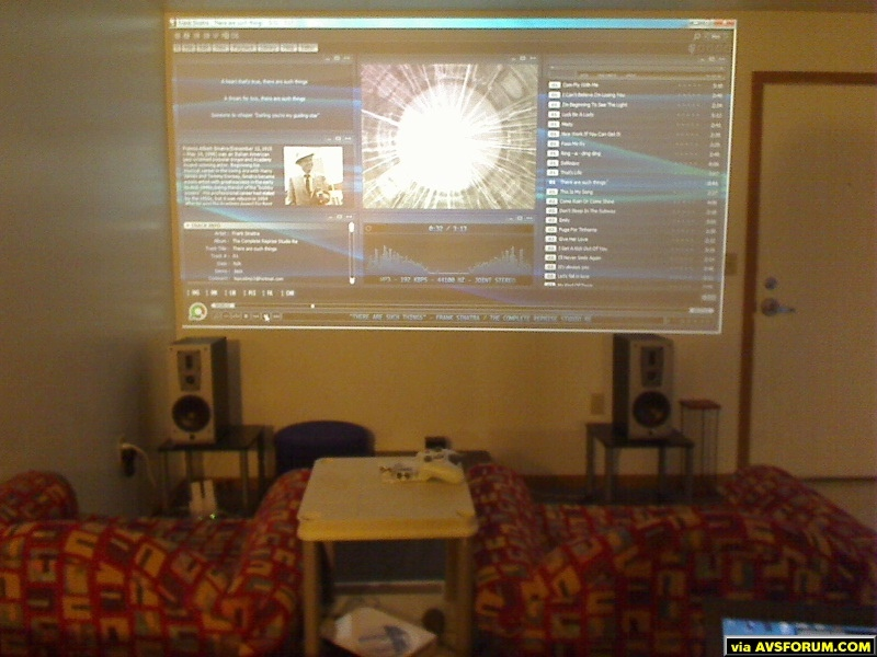 I apologise for the general quality of the pictures, I didn't have anything great to take pictures with at the time. These pictures are of the setup I had in my senior year of college in our quad. Since the apartment was campus owned, we couldn't...