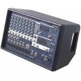 "Yamaha EMX512 1300 Watt Powered Mixer Professional System w/ 15"" Speakers and Floor Monitor Speaker"
