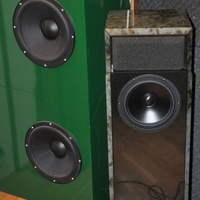 Ino audio pi60s-s (Guru pro audio QM60 relative) and acoustic suspension subwoofers featuring NHT1259
