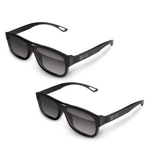 LG AG-F210 Cinema 3D Glasses (2-Pairs) for 2011 LG 3D LED-LCD HDTVs (Colors May Vary Black, White, Orange)