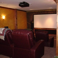 The perfect blend of home theater and Irish pub!