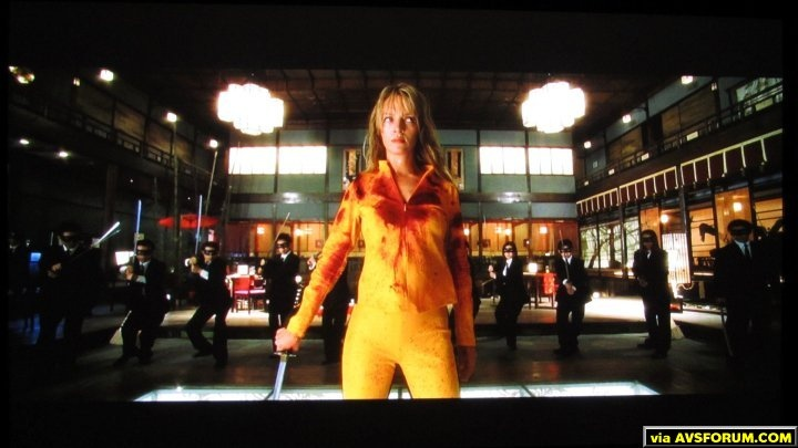 A shot of Kill Bill on my Epson 8500UB setup.