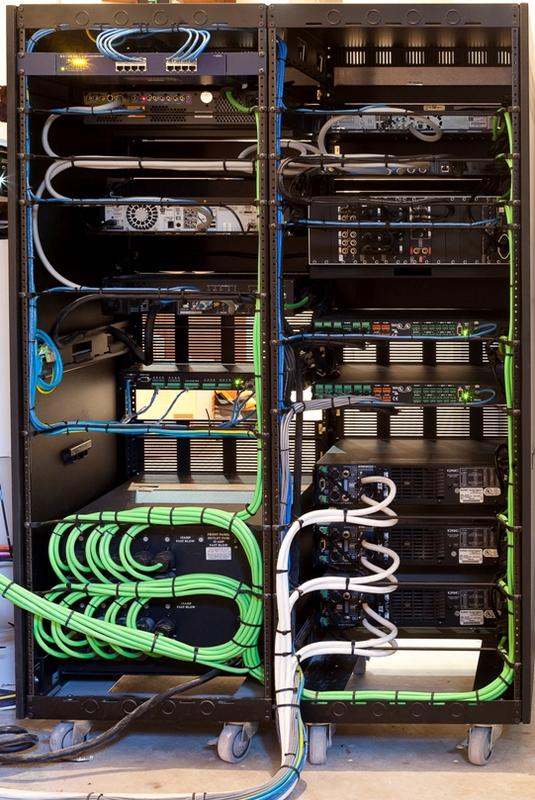 patching up a network rack solid data center cabling