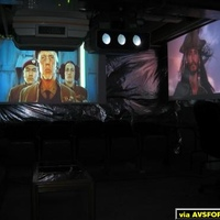 I had a CRT Meet at my house last night, so I set up four of my projectors on 4 separate screens...