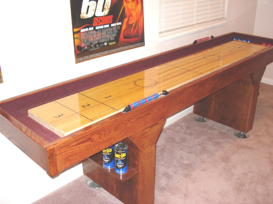 Heres How To Play Ice Blocking Shuffleboard - Standard shuffleboard table