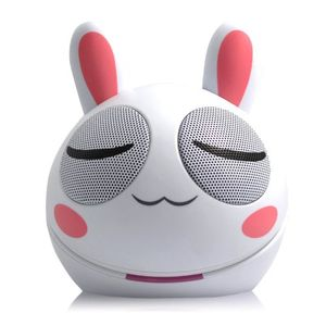 Backhomeday Magic Mini Adorable Rabbit Loudspeaker USB Portable Voice Box