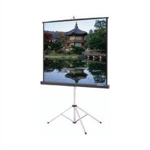 Dalite Carpeted Picture King With Keystone Eliminator Square Format 84 X 84 Inch Matte White Black Carpeted Case Projection Screen