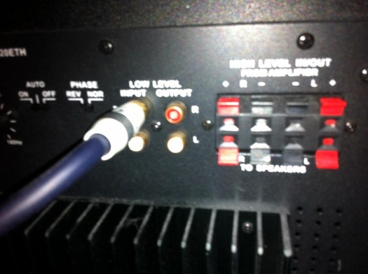 help with wiring avs forum home theater discussions and reviews rh avsforum com KLH Subwoofer Connections Home Stereo Subwoofer Wiring