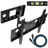 Cheetah Mounts APSAMB 32-55&quot; LCD TV Wall Mount Bracket with Full Motion Swing Out Tilt &amp; Swivel Articulating Arm for Flat Screen Flat Panel LCD LED Plasma TV and Monitor Displays Includes Free 10' Braided High Speed HDMI Cable With Ethernet