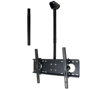 VideoSecu Adjustable Tilting Ceiling mount for most 26&quot;-55&quot; LCD LED Plasma TV Flat Panel Displays Fits Flat or Vaulted Ceiling extending 26-55&quot; MPC53BE 1UO