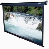 87W X 49H Manual Series, 16:9 Projection Screen 100 Diagonal - Black Case