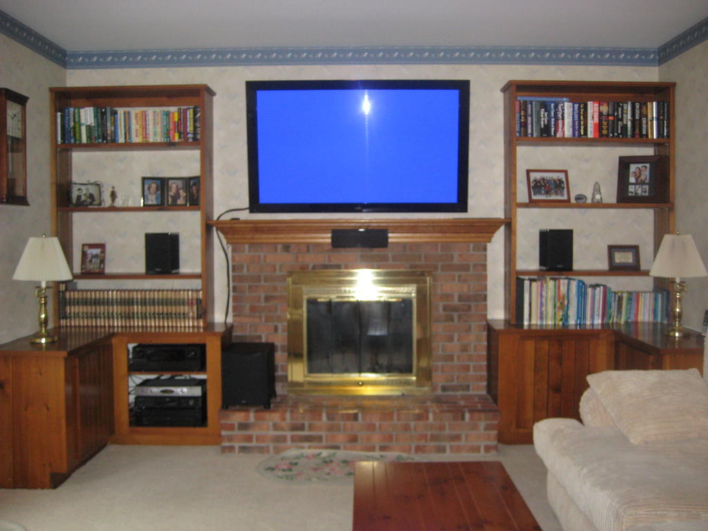 Center Channel or TV first in over the fireplace install