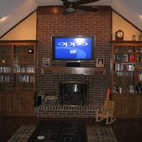 "Front of the room showing the SONY 52"" and the Athena AS F2's LCR."