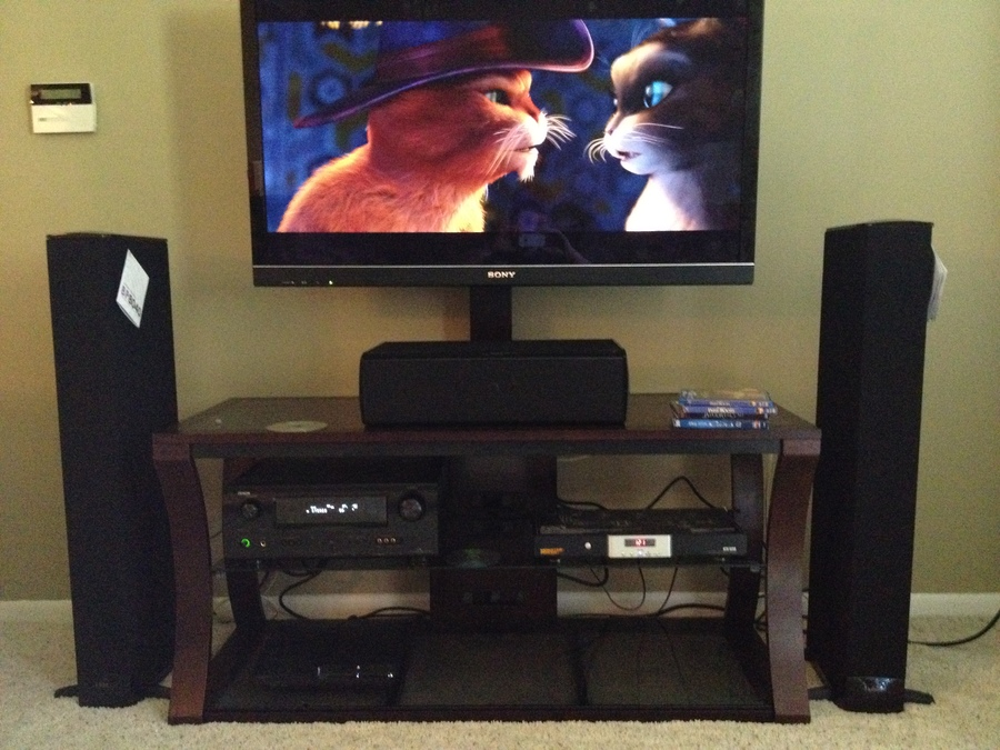 Sony HX800...PS3...Denon 1611....Monster 1650 HT Stage 2 Power Center...Definitive Technology 8040 Towers Center and Rears.