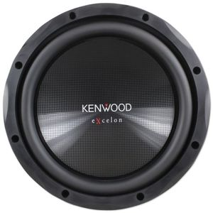 "Kenwood eXcelon KFC-XW12 12"" 1200 Watt Single 4-Ohm Car Audio Subwoofer With Textured Polypropylene Cone With Rubber Surround"