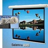 Draper Salara Plug & Play Electric Wall Mount Projection Screen, HDTV Format, 45 inch x 80 inch, 92 inch Diagonal, Matte White Surface