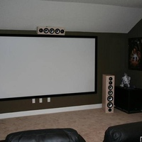 "Axiom VP-150, M80s, DragonFly 120"" Screen"