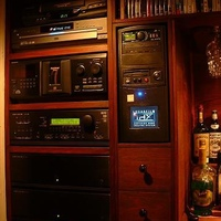 Another shot showing a close up of the HTPC and Audio Equipment, (and yes, still more DVD storage)